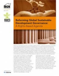 Reforming global sustainable development governance: A rights-based agenda