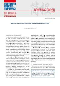 Reform of Global Sustainable Development Institutions